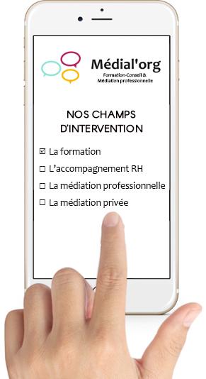 Champs d'application médiation professionnelle - Médial'org